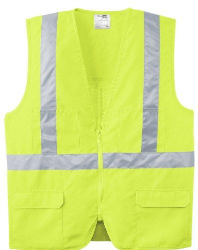 Cornerstone ANSI Class 2 Mesh Back Safety Vest - Safety Yellow CSV405 XL