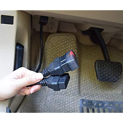 16 pin OBD2 OBDII Diagnostic Extender Splitter Extension Cable Male to Dual Female Y Cable: Automotive
