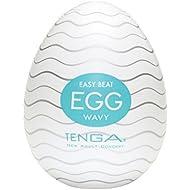 TENGA Easy Beat EGG Mens Portable Pleasure Device, EGG-001 Wavy
