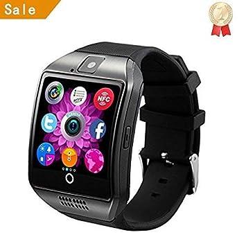 INDI Q18 Bluetooth Smart Watch con cámara soporta tarjeta SIM TF tarjeta de pulsera teléfono reloj pantalla táctil Smartwatch podómetro pulsera para ...