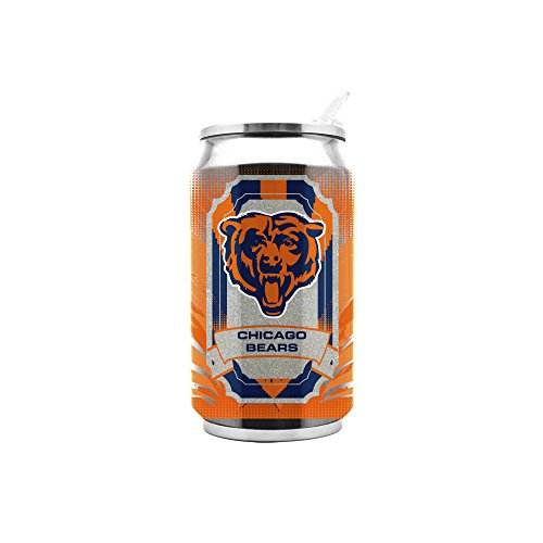 NFL Chicago Bears 16oz Double Wall Stainless Steel Thermocan]()