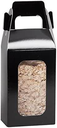 1/2 lb Black Gable Box w/Window - Case of 100