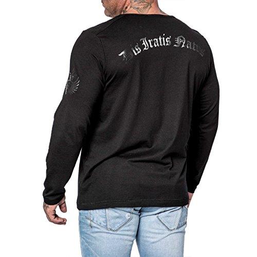 DIS IRATIS NATUS (D.I.N.) Herren Longsleeve Pullover Shirt langarm Iro Heim schwarz (M)