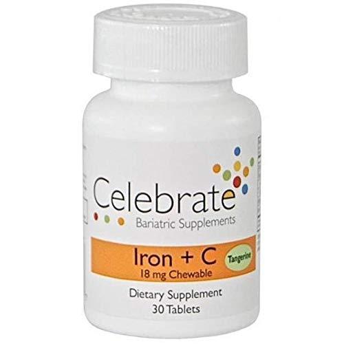 Celebrate Vitamins - Iron + Vitamin C - 18mg - Chewable - Tangerine - 30 Tablets