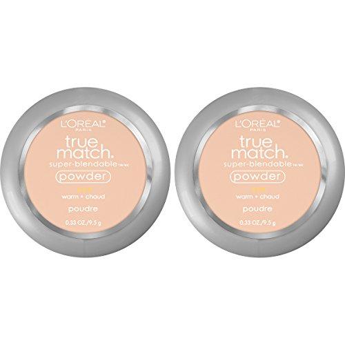 L'Oreal Paris Cosmetics True Match Super-Blendable Powder, Light Ivory, 2 Count by L'Oreal Paris