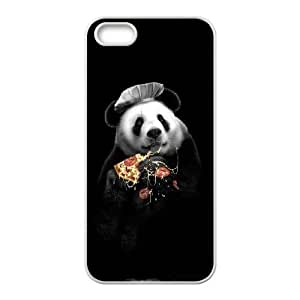 iPhone 5 5s Cell Phone Case White PANDA LOVES PIZZA YB4994896