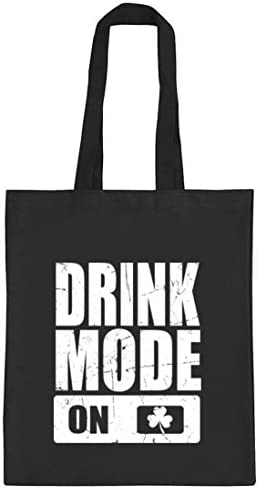 ShirtStreet Irland St. Patrick's Day natur Jutebeutel Stoffbeutel Tote Bag Drink Mode On