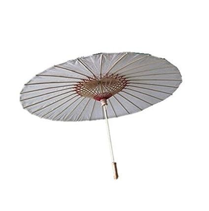 Últimas tendencias el precio más baratas nuevas variedades 8m Sombrilla/paraguas de bambú estilo chino/japonés (color blanco).