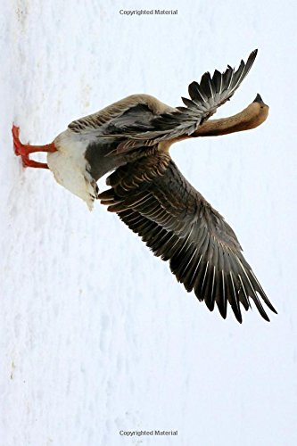 Goose in the Snow with Outstretched Wings Journal: Take Notes, Write Down Memories in this 150 Page Lined Journal - Outstretched Wings