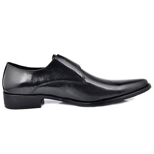 Hombre Cordones Fulinken Con Planos Negro Zapatos PqRxqHIOv