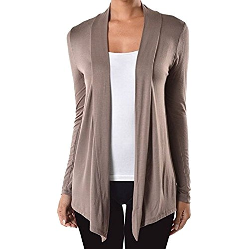 Sofra Open Front Cardigan Sweater Longline
