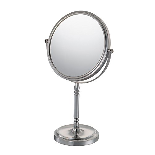 Kimball & Young 86675 Recessed Base Vanity Mirror, 1X and 5X Magnification, Brushed Nickel (Kimball & Young Vanity Stand)