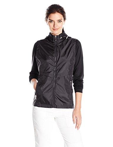 Lightweight Knit Activewear Zip (Cutter & Buck Women's Moisture Wicking 50+ UPF Lightweight Ava Hybrid Zip Jacket, Black, Medium)