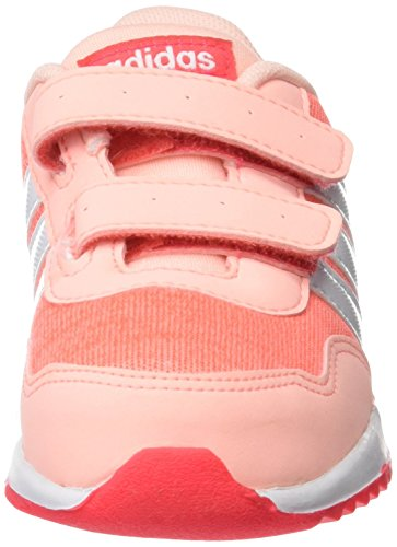 adidas Unisex-Kinder V Jog CMF Inf Sneakers Orange (Hazcor/ftwwht/shored)