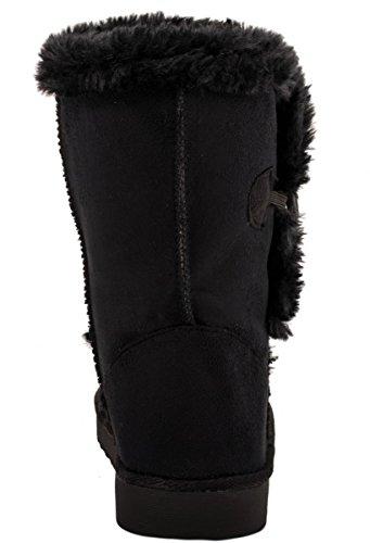 Elara - Botas plisadas Mujer negro