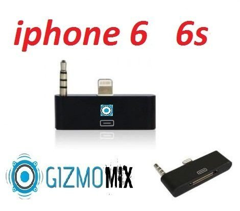 1pc 2016 chipset , Black 30 Pin to 8 Pin lightning 3.5mm Audio Adapter Converter for iPhone 6 6s iPod Touch to Sound dock speaker, like Bose, JBL, iHome, iPod Nano Gizmomix inc (Ipod Bose Adapter)