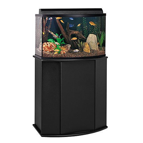 Aquatic Fundamentals Black Bowfront Aquarium Stand - for 26 Gallon Bowfront Aquariums