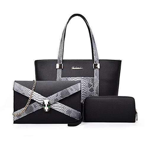 Bags Qztg Beige Bag Pcs 3 Bolsos Para Set Bolso Mochila Negro Body Shoulder Gris Fuchsiacross Purse Mujer Pu qwqZvFrC