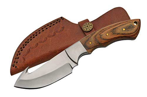 SZCO Supplies Szco Pakkawood Guthook Hunting Knife