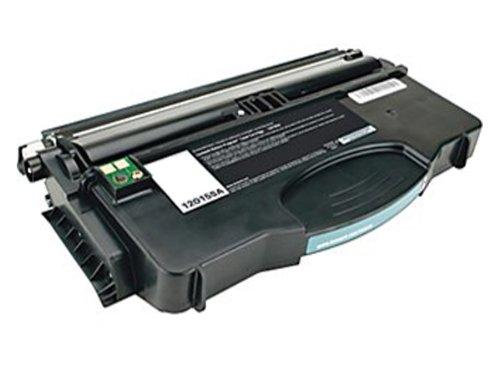 INKUTEN Replacement Black Laser Toner Cartridge for Lexmark 12015SA (Optra e120 Series Printers)