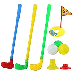 Amazon.com: willway Plastic Golf Sets, Golf Clubs Educational Toys for Toddlers Kids Children