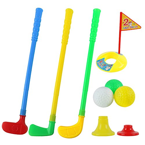 willway Plastic Golf Clubs Golf Sets for Toddlers Kids Child, Multi-Colored]()