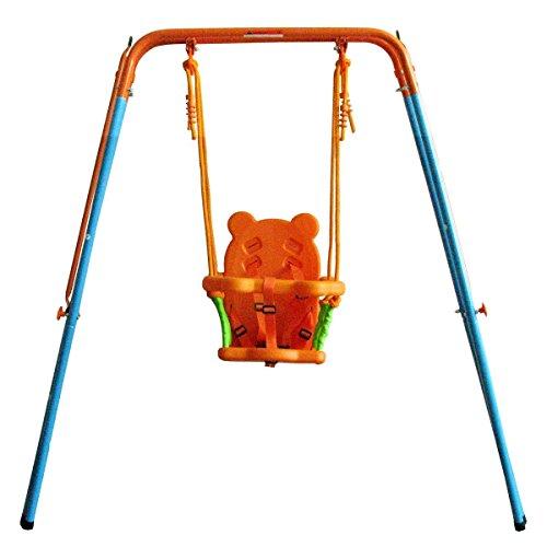 GALAXY Swing Metal Portable Toddler Baby Swing OUTDOOR INDOOR use ORANGE