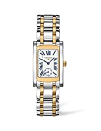 Longines Dolce Vita White Dial Stainless Steel and 18kt Yellow Gold Ladies Watch L51555707