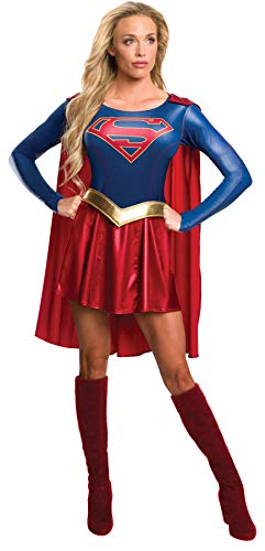 Women's Dc Comics Supergirl Outfit Movie Theme Fancy Dress Halloween Costume