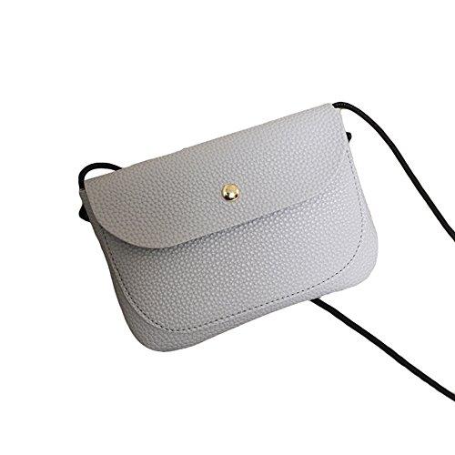 Oce180anYLV Solid Fashion Messenger Grey Crossbody Faux Color Leather Women Shoulder Bag Bag Mini 5r5xUwdq