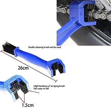 BEESCLOVER Universal Motorcycle Bike Chain Maintenance Cleaning Brush for Suzuki GSX-R600 GSX-R750 GSX-R1000 GSX-R1300 GSXR1300 Blue One Size