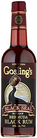 Sello Negro Negro Bermudas ron 70cl de Gosling (paquete de 6 ...