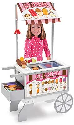 Melissa & Doug Wooden Snacks & Sweets Food Cart - The Original (Play Sets & Kitchens, 40 +  Play Food Pieces, Great Gift for Girls and Boys - Kids Toy Best for 3, 4, 5, 6, and 7 Year Olds)
