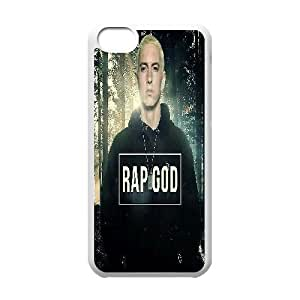 Yearinspace Eminem IPhone 5C Cases Eminem Forest for Teen Girls Protective, Phone Case for Iphone 5c for Girls, [White]