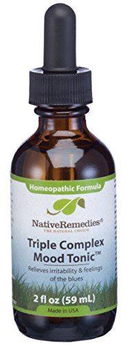 Native Remedies Triple Complex Mood Tonic - Natural Homeopathic Formula Relieves Symptoms of Poor Mood and Emotional Oversensitivity - Helps Relieve Feelings of Sadness and Hopelessness - 59 mL