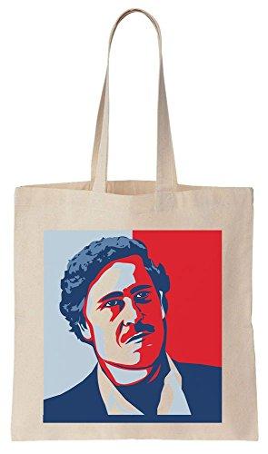 Hope Style Portrait Of Pablo Escobar Sacchetto di cotone tela di canapa