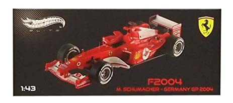 Amazon Com Mattel 1 43 Ferrari F2004 German Gp 2004 1 Toys Games