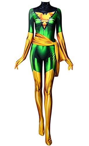 Jean Grey Costumes Halloween - Dark Green Phoenix Cosplay Costume X-Men