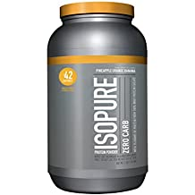 Isopure Zero Carb Protein Powder, 100% Whey Protein Isolate, Flavor: Pineapple Orange Banana, 3 Pounds (Packaging May Vary)