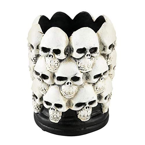 (Candle Holders - Creative Resin Skull Ash Holder Halloween Candle Pattern Skeleton Ashtray Home Decor Ornaments - Crystal Red Mantle Bath Egypt Fashion Navy Tealight Halloween)