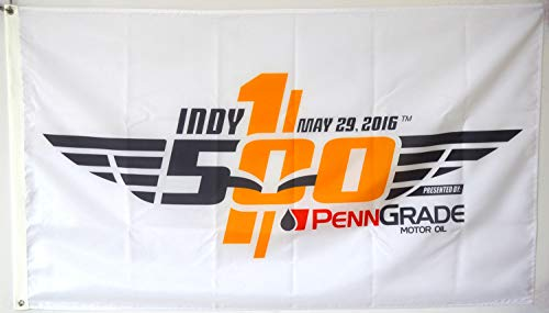 Mountfly Indy 500 2016 100th Anniversary Indianapolis Race Flag Banner 3x5Feet ()