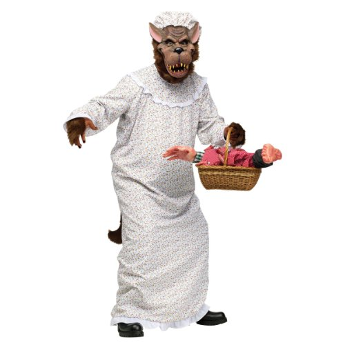 Red Riding Hood Granny Wolf Men's Costume (Large Image)