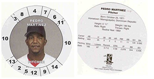 Pedro Martinez 2003 Cadaco All Star Baseball Game Card Disc