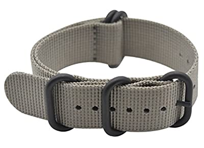 ArtStyle Watch Band with Ballistic Nylon Material Strap and High-End Black Buckle (Matte Finish) by ArtStyle
