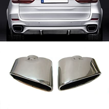 Black welding car dual exhaust pipe tip car for BMW -Right side