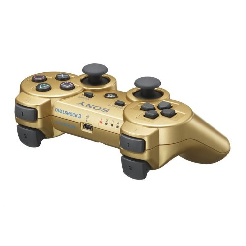 ps3 wireless controller gold - 7