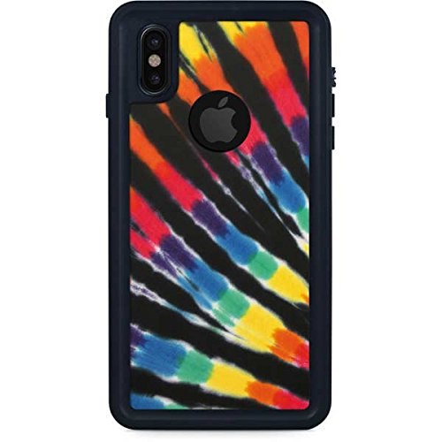 huge selection of 57bd0 b436a Amazon.com: Tie Dye iPhone X Case - Tie Dye - Rainbow | Skinit ...