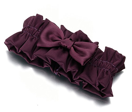 Lillian Rose Plum Satin Garter ()