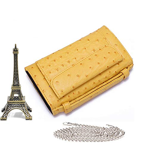 Snake Pattern Ladies Cow Leather Day Clutches Fashion Purses And Handbags Shoulder Messenger Bag Long Wallet,Ostrich Yellow