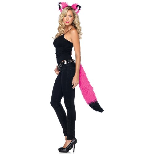 Leg Avenue 2 Piece Rockin Fox Costume Kit, Hot Pink/Black, One Size Hot Bodies Tail Body